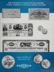 1992 Suburban Washington-Baltimore Coins, Currency, Stocks & Bonds Auction: Public Auction