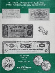 1992 Suburban Washington-Baltimore Coins, Currency, Stocks & Bonds Auction: Mail Bid Sale
