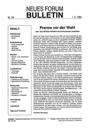 1993-06-01 Neues Forum Bulletin 24