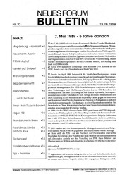 1994-06-19 Neues Forum Bulletin 33