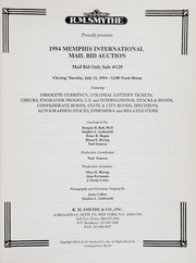 1994 Memphis International Mail Bid Auction