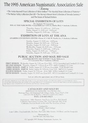 The 1995 American Numismatic Association Sale