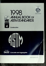 1998 Annual book of ASTM standards: Section 4 (Construction