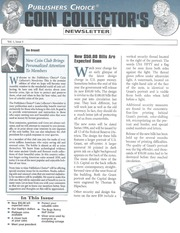 Publishers Choice Coin Collector's Newsletter: Vol. 1 No. 1