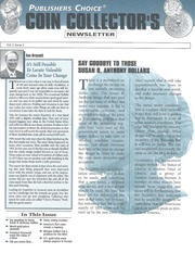 Publishers Choice Coin Collector's Newsletter: Vol. 1 No. 3