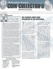 Publishers Choice Coin Collector's Newsletter: Vol. 1 No. 4