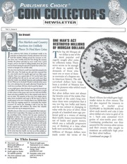 Publishers Choice Coin Collector's Newsletter: Vol. 1 No. 6