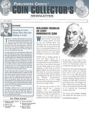 Publishers Choice Coin Collector's Newsletter: Vol. 1 No. 8