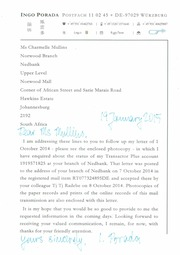 Community texts free books free texts free download borrow 19 january 2015 porada to mullins at norwwod branch of nedbank fandeluxe Image collections