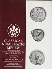 The Classical Numismatic Review: Vol. 19 No. 1