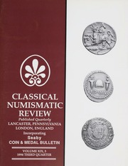 The Classical Numismatic Review: Vol. 19 No. 3