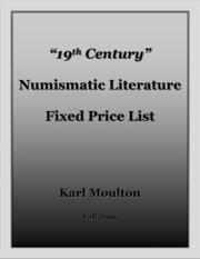 """19th Century"" Numismatic Literature Fixed Price List"