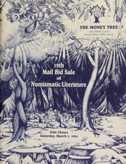 19th mail bid sale of numismatic literature, featuring the numismatic library of James J. Curto, [etc.] ... [03/05/1994]