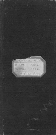 #1 Alaska, 1903, dr 4191-4217, hy 4721-4742, June 19th - July 1st -03