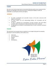 WC043 Mossel Bay AFS 2012-13 unaudited