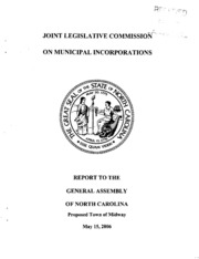 Joint Legislative Commission on Municipal Incorporation - Proposed Town of Midway