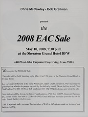 The 2008 EAC Convention Sale