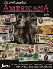 The Philadelphia Americana Sale, Part One: American Paper Currency