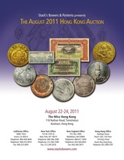 The August 2011 Hong Kong Auction