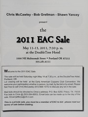 The 2011 EAC Convention Sale