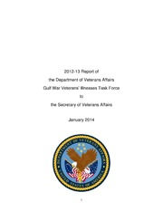 2012-13 Report of the Department of Veterans Affairs Gulf ...