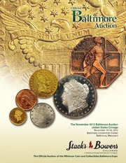 The November 2012 Baltimore Auction, United States Coinage