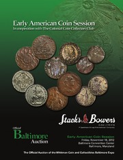 Early American Coin Session, in cooperation with The Colonial Coin Collectors Club