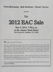 The 2012 EAC Convention Sale