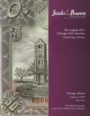 The August 2013 Chicago ANA Auction, World Paper Money
