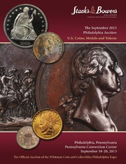 The September 2013 Philadelphia Auction, U.S. Coins, Medals and Tokens