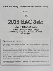 The 2013 EAC Convention Sale