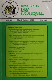Vol 38: West Indian Law Journal