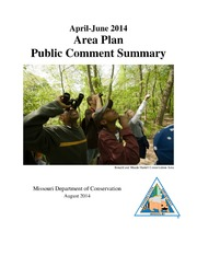 Area Plan Public Comment Summary April - June 2014