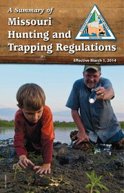 A summary of missouri hunting and trapping regulations for Missouri conservation fishing license