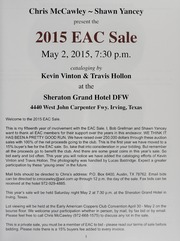 The 2015 EAC Convention Sale