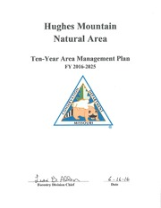 Hughes Mountain Natural Area Ten-Year Area Management Plan FY 2016 - 2025