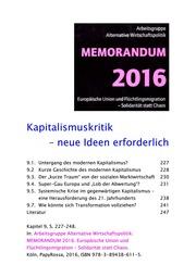 2016 Memorandum - Kapitalismuskritik - Neue Ideen erforderlich