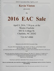 The 2016 EAC Convention Sale