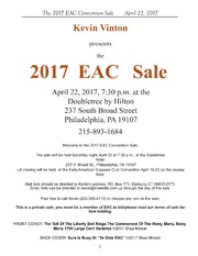 The 2017 EAC Convention Sale