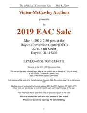 The 2019 EAC Sale