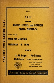 201st Sale: United States and Foreign Coins, Currency