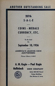 207th Sale: Coins, Medals, Currency, Etc.