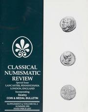 The Classical Numismatic Review: Vol. 20 No. 2 Supplement