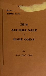20th auction sale of rare coins. [06/03/1944]