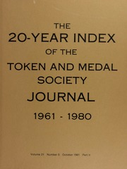 The 20-Year Index of TAMS Journal, 1961-1980
