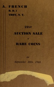 21st auction sale of rare coins. [09/30/1944]