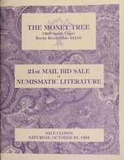 21st mail bid sale of numismatic literature, featuring The American Journal of Numismatics, Volumes 1 through 36, [etc.] .... [10/29/1994]