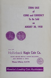 220th Sale of Coins and Currency