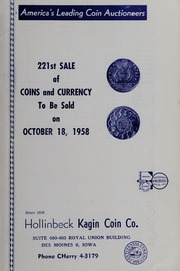 221st Sale of Coins and Currency