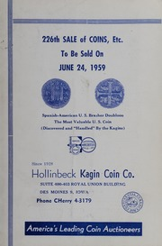 226th Sale of Coins, Etc.
